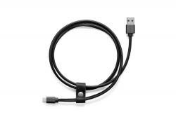 Bőr töltökábel, USB Type-C,...